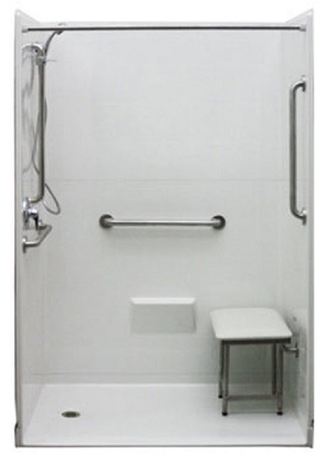 Five Piece 54 In X 31 In Wheelchair Accessible Shower