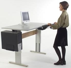 Accella Series Height Adjustable Standing Desk And Computer