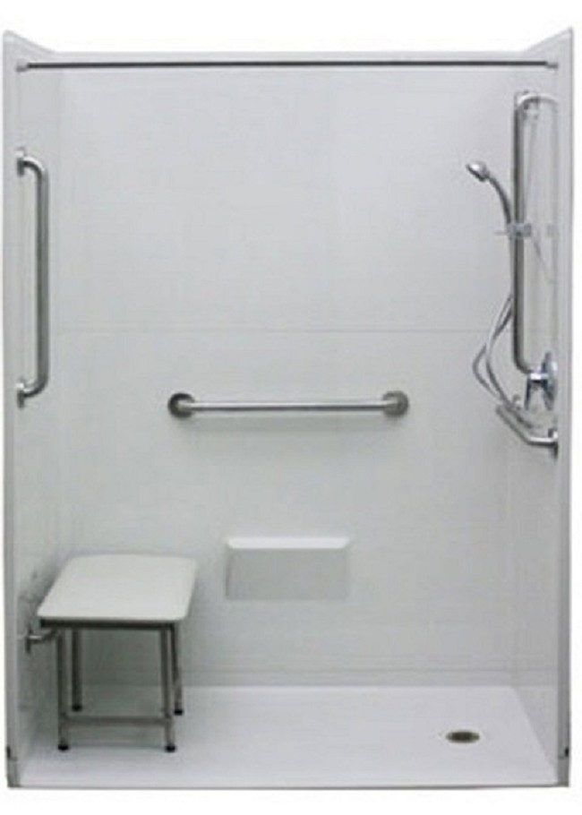 Wheelchair Accessible 54 In X 36 7 8 In Freedom Shower