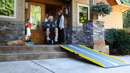 Plastic Threshold Wheelchair Ramp From Bighorn