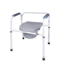 Bedside Steel Commode with Removable Back