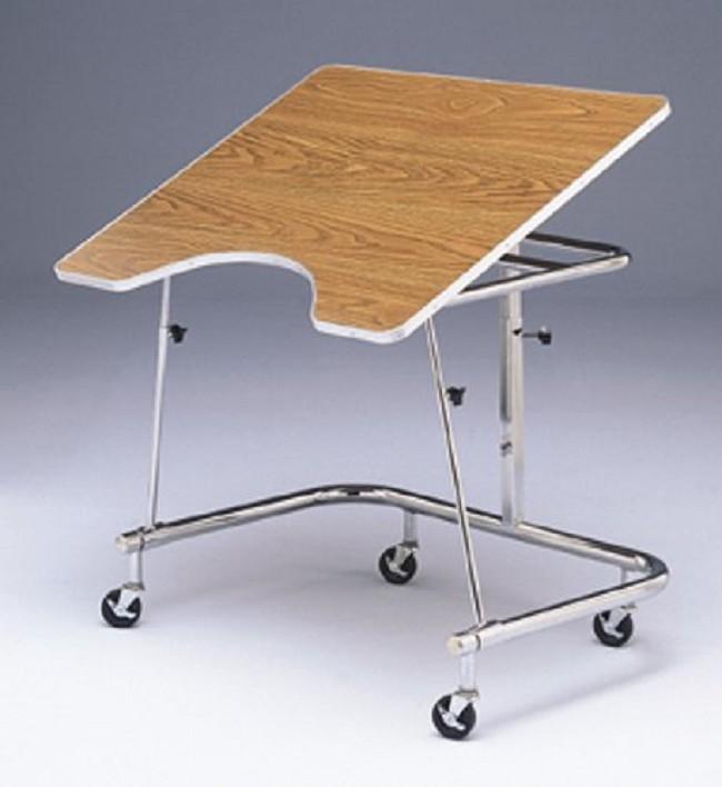 Bailey Heavy Duty Mobile Adjustable Height Wheelchair Table