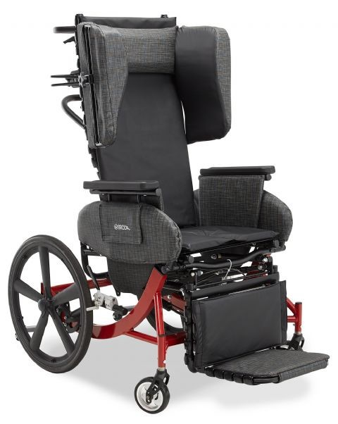 Broda Synthesis V4 Mobile Tilt Reclining Transport Chair