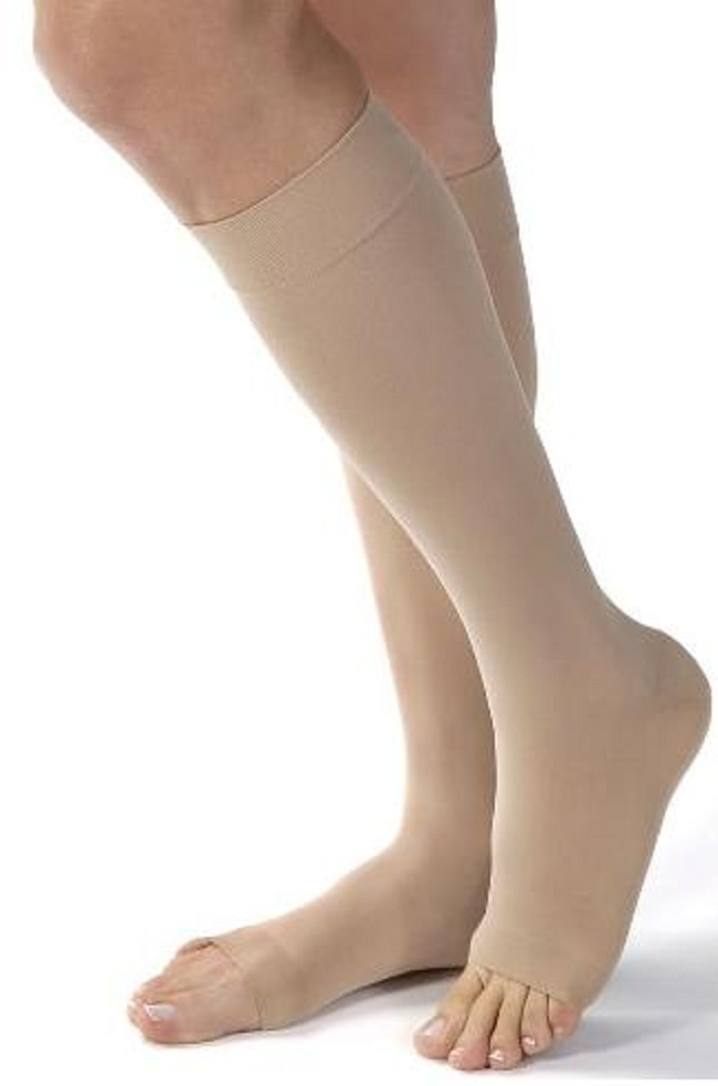 ea3bd0238bb Soft and sheer open-toe support hosiery with an opaque knit and an extra  firm 30-40 mmHg compression level combines great design with therapeutic  efficacy.