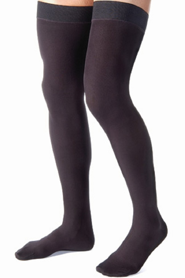 6949e4832 Comfortable and fashionable thigh high stocking for men provides light  compression therapy for everyday wear!