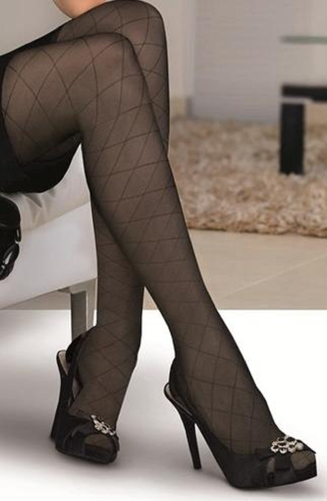 5daa4abacd7ab Stylish leg therapy combines light and comfortable gradient compression  with an elegant design. Jobst Ultrasheer Thigh High Patterned Compression  Stocking