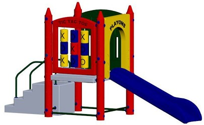 Fort Adams Playground Set with 3 Foot High Deck