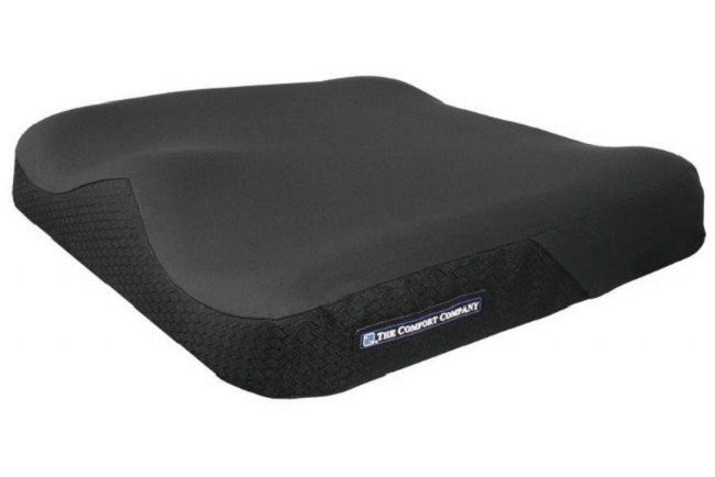 Saddle Zero Elevation Wedge And Anti Thrust Wheelchair Cushion By Comfort Company