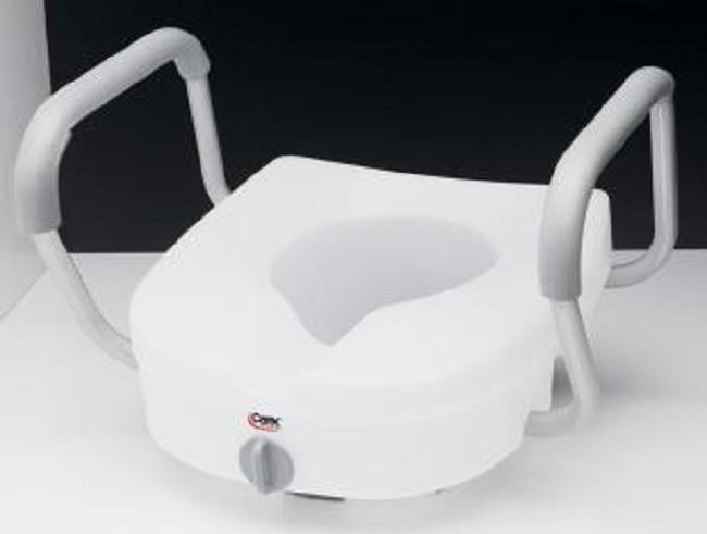 E Z Lock Raised Toilet Seat With Adjustable Handles