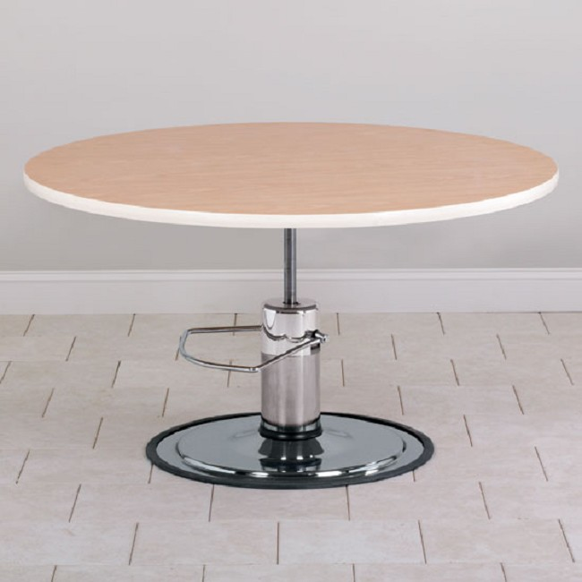 High Round Adjustable Height Coffee Table Tikspor: Round Top Hydraulic Height Adjustable Treatment Table