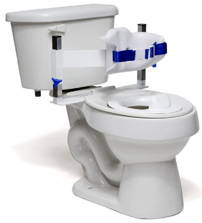 Special Needs Contoured Wrap-Around Adaptive Toilet Support System