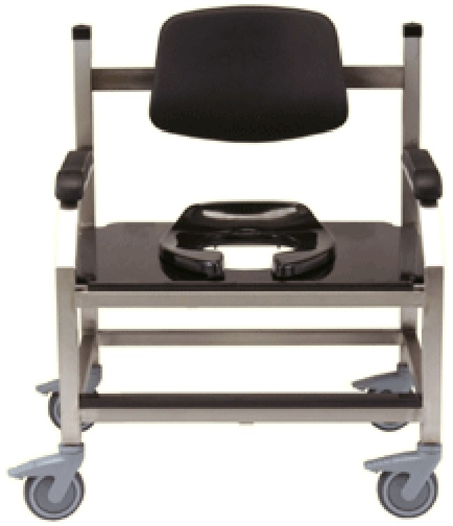 Bariatric Steel Shower Commode Chair - FREE Shipping