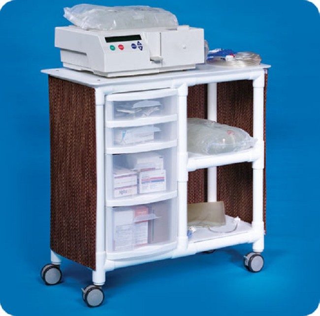 Rolling Peritoneal Dialysis Cart with Drawers