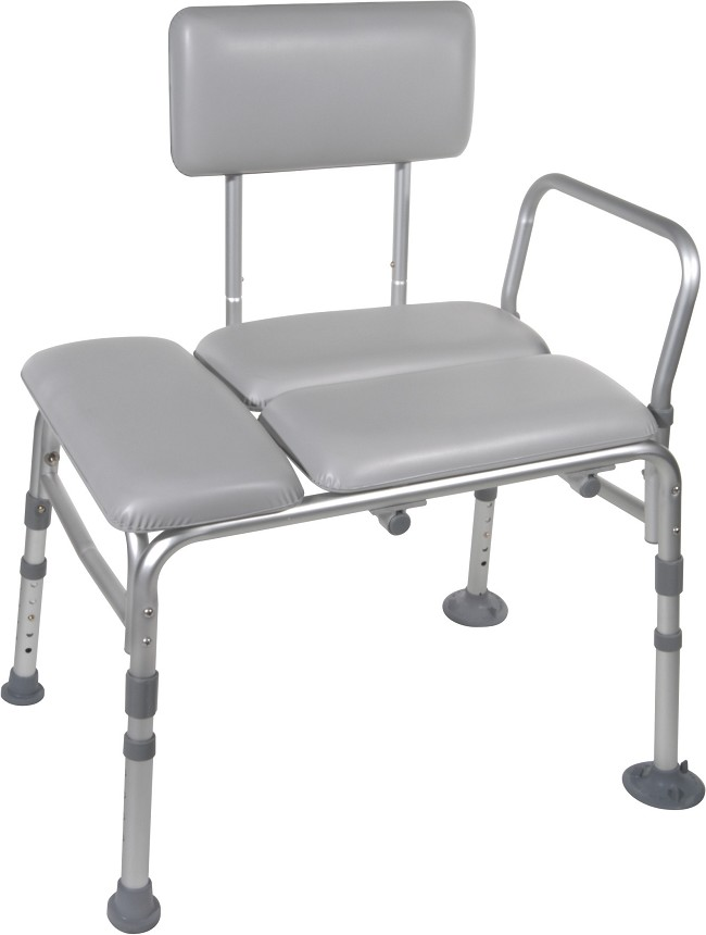 Adjustable Bath Transfer Bench - Padded - FREE Shipping
