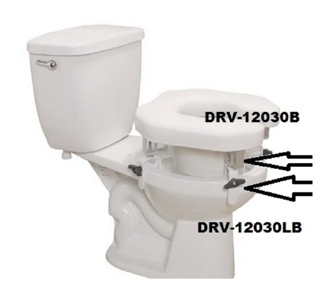 Replacement Parts for Padded Raised Toilet Seat