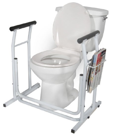 free standing toilet safety frame