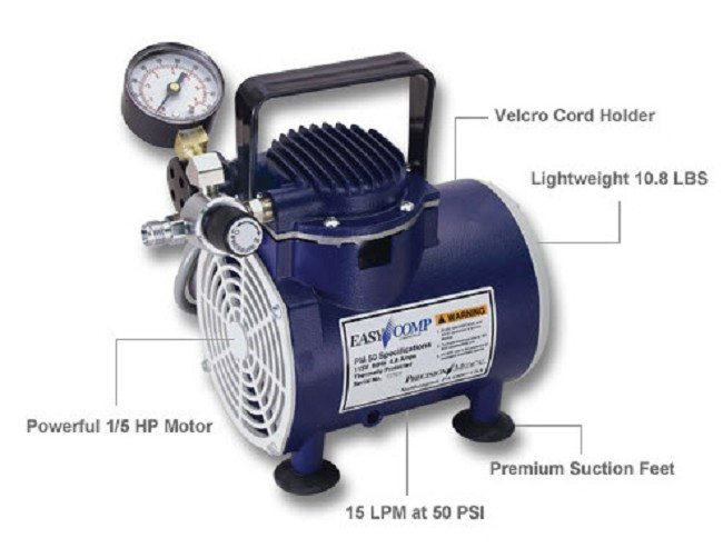 Air Compressor Ventilation : Precision medical easycomp artificial ventilation air