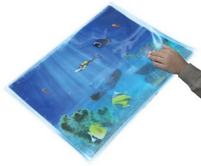 Squishy play tabletop fish mat for tactile therapy for Blue fish pediatrics