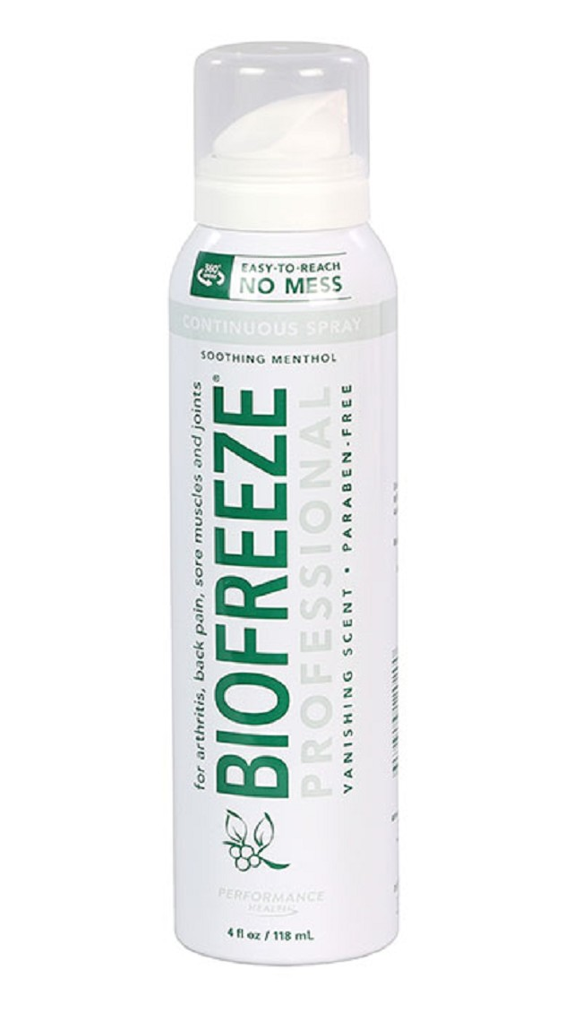 d24b1fe3e The BioFreeze Professional CryoSpray is a deep penetrating relief spray  that is made of 100% natural ingredients.