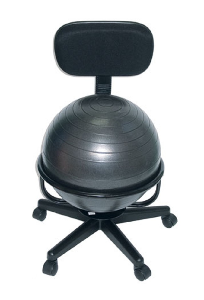 Metal Mobile Ball Chair With Backrest - Ball chair