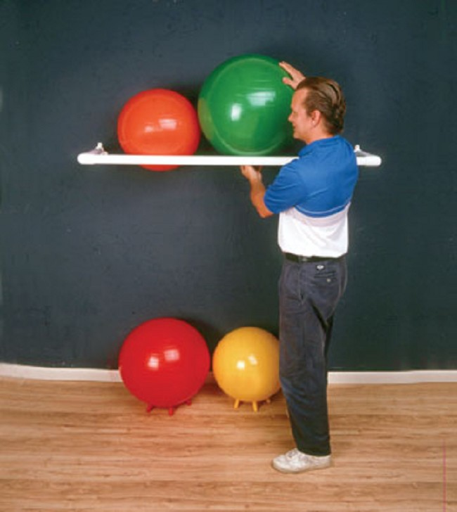 Stability Ball Wall Rack: PVC Exercise Therapy Ball Storage Rack