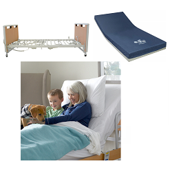 Invacare Etude Electric Hospital Bed & Solace Performance Mattress Bundle (Includes ETUDE-HC + SKS1080)