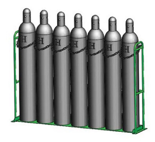 Large H Oxygen Cylinder Warehouse Racks