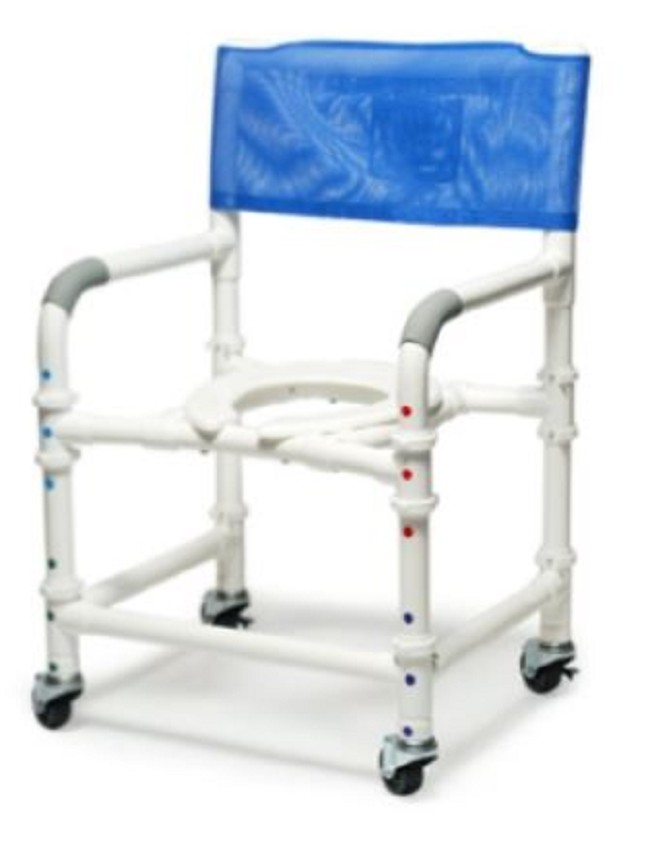 Lumex PVC Knock-Down Shower Commode Chair