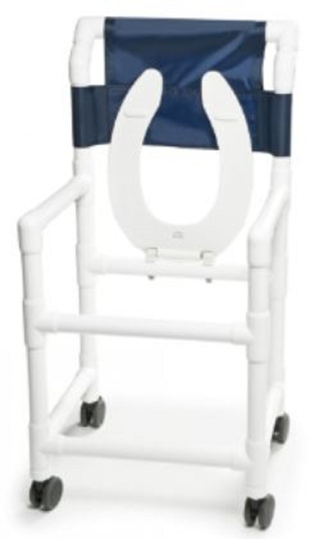 Mobile PVC Shower Commode Chair - FREE Shipping