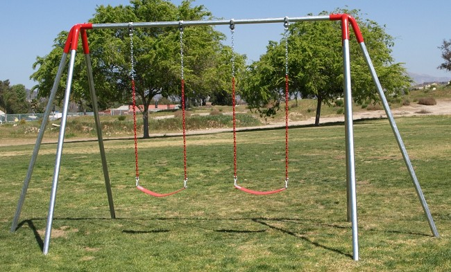 Jensen swing heavy duty commercial metal swing sets for Swing set frame only