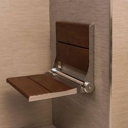 Teak Wall Mount Fold Down Shower Bench Free Shipping