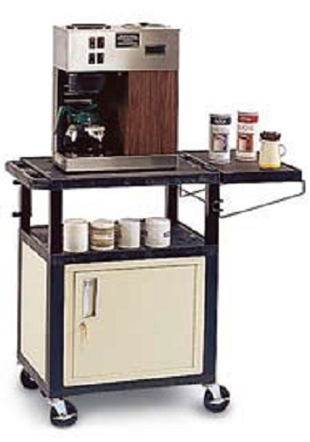 tuffy coffee cabinet commercial carts with side shelves. beautiful ideas. Home Design Ideas