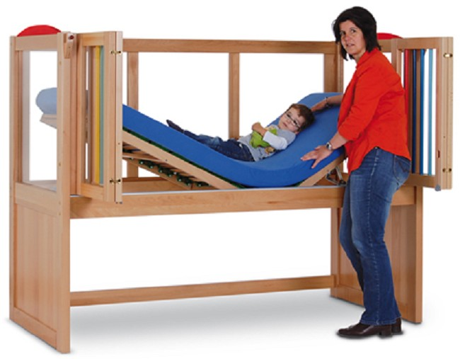 Ida Iv Fixed Height Safety Bed With Articulating Mattress
