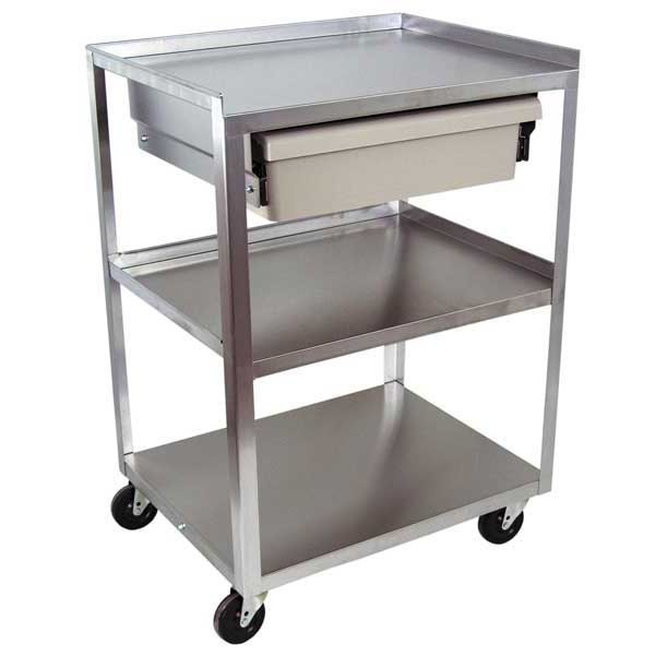 rolling carts with drawers 3 shelf stainless steel carts with drawers 25620