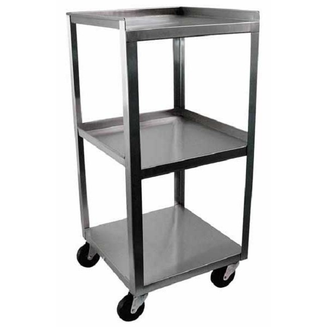 3 Shelf Stainless Steel Compact Utility Cart