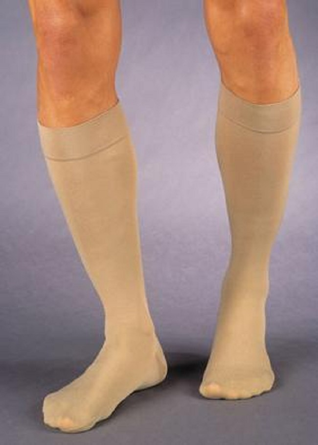 0958dca880 Soft and comfortable, with a closed toe design, these 30-40 mmHg compression  stockings offer substantial swelling and pain relief from lower extremity  ...