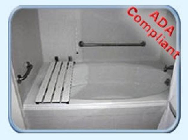 Steel ADA Compliant Garden Tub Bench