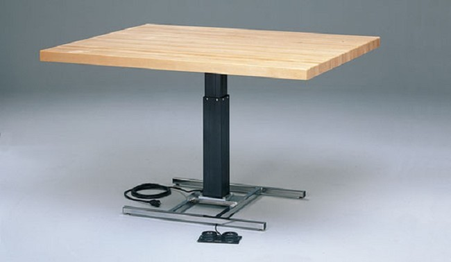 Rectangular Hi-Lo Wood Work Table