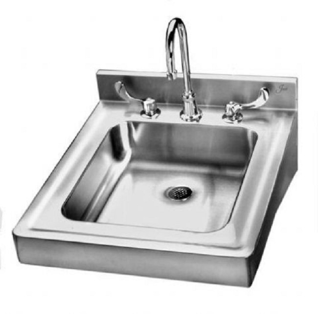 stainless steel wall hung sink with overflow - Wall Mount Sink