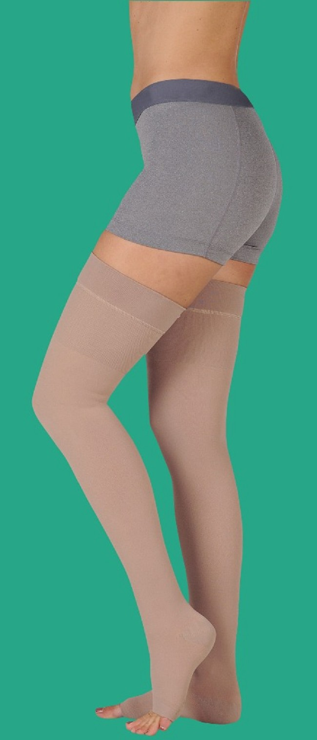 cfd6e33e476 Juzo Soft Regular Length Open Toe Thigh High 20-30 mmHg Compression Stocking