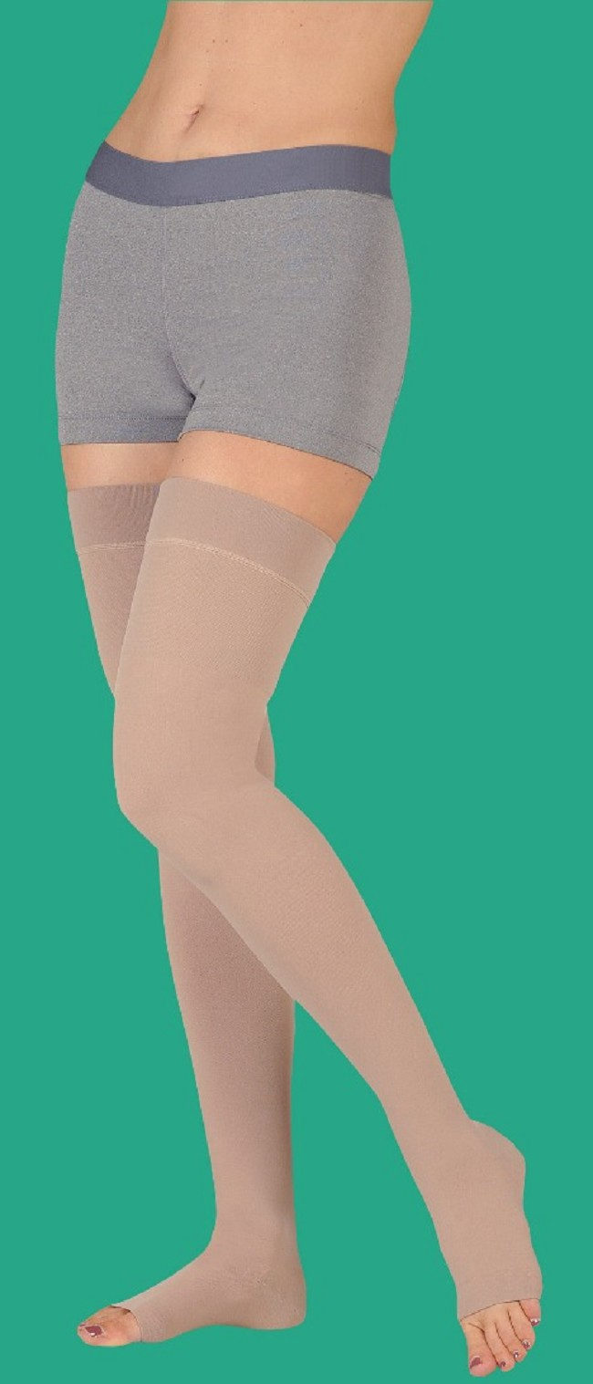 0645d5708c9 Juzo Soft Petite Length Open Toe Thigh High 20-30 mmHg Compression Stocking