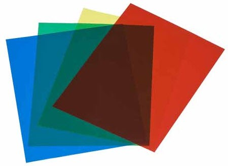 colored acetate sheets