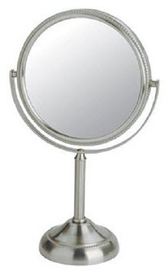 Mirror makeup mirror magnifying mirror lighted mirror shower mirror panoramic mirror for Magnifying bathroom mirror on stand