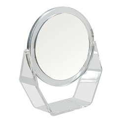 Led Illuminated Stand Mirror With Magnification For Low Vision