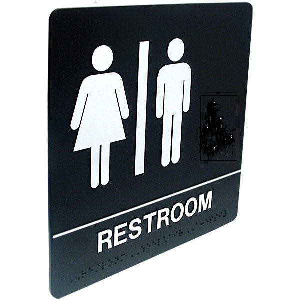 signs accessibility wayfinding restroom signs ada compliance