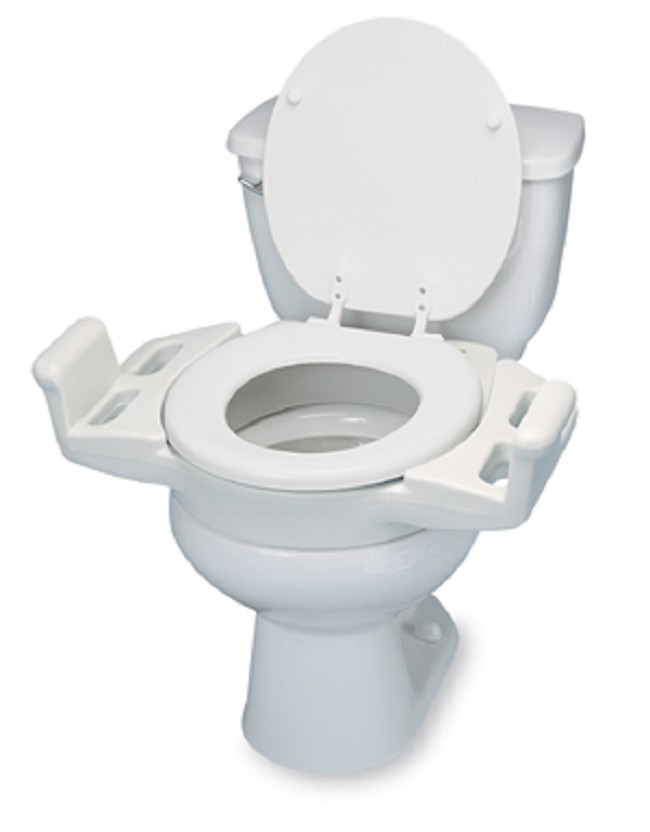 Phenomenal Elevated Push Up Toilet Seat With Armrests Dailytribune Chair Design For Home Dailytribuneorg
