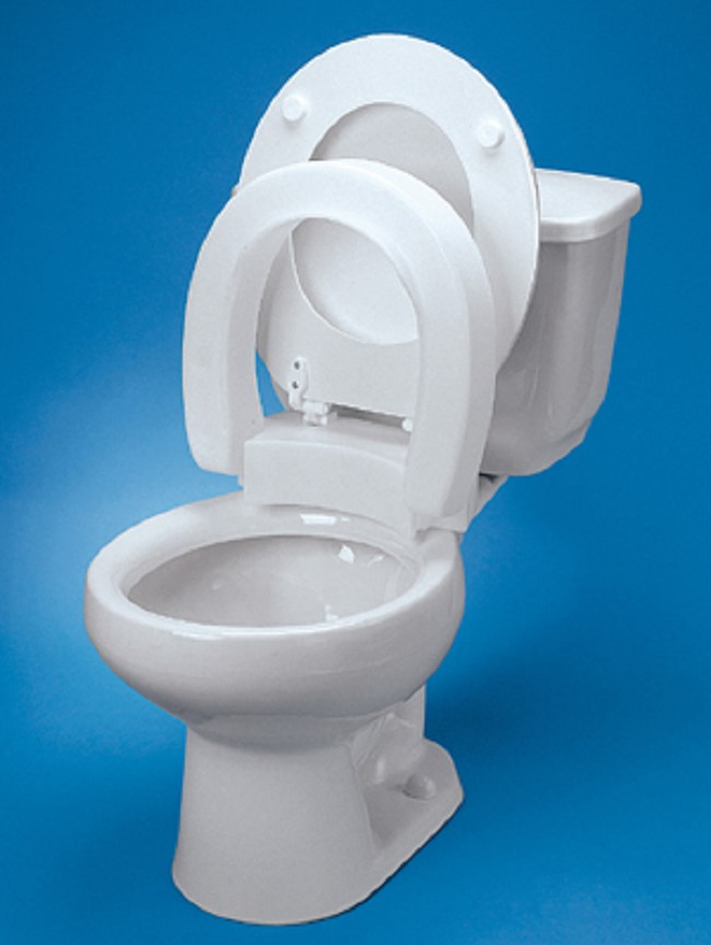 toilet seat. Hinged Elevated Toilet Seat