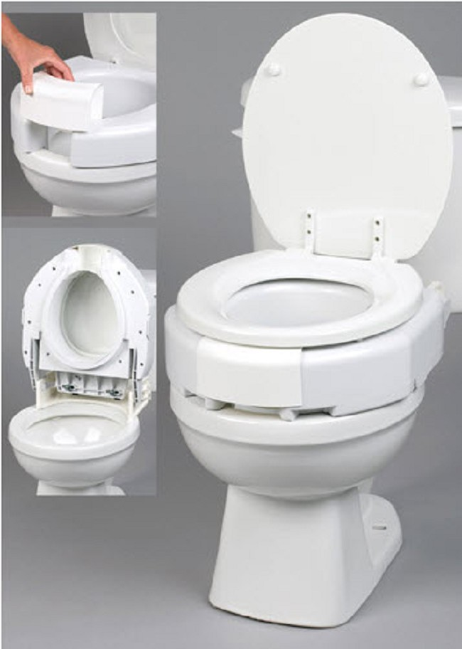 Secure Bolt Hinged Elevated Toilet Seat Free Shipping