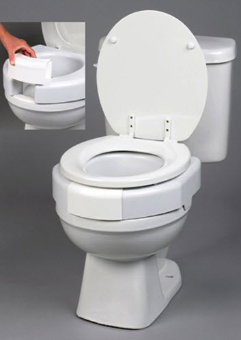 Secure Bolt Elevated Bariatric Toilet Seat