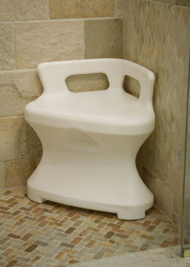 Corner Shower Seat Triangular Bench Free Shipping